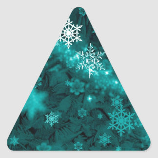 597 TEAL AQUA GREEN BLUE WHITE WINTER FROST SNOWFL STICKERS