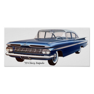 '59 Chevy Impala Poster