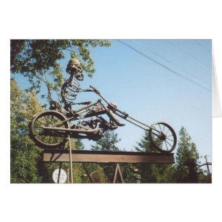 59 Iron Motorbike Skeleton Cards