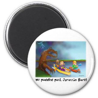 59_Jurrasic_Bark 6 Cm Round Magnet