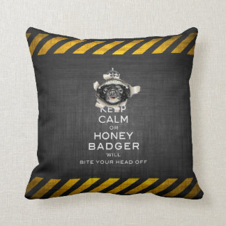 [59] Keep Calm or Honey Badger… Cushion