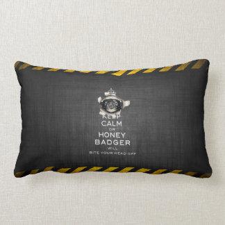 [59] Keep Calm or Honey Badger… Throw Cushion