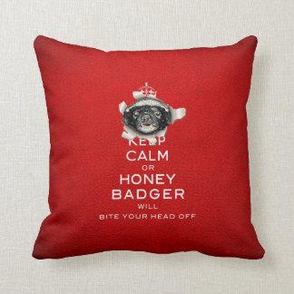 [59] Keep Calm or Honey Badger… Throw Cushions