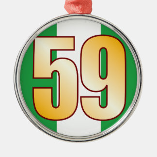 59 NIGERIA Gold Christmas Ornament