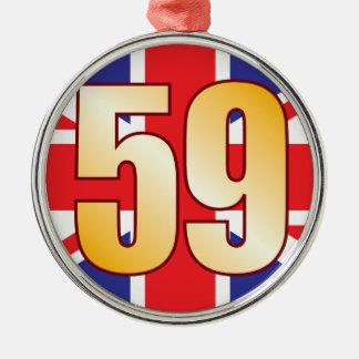 59 UK Gold Christmas Ornament