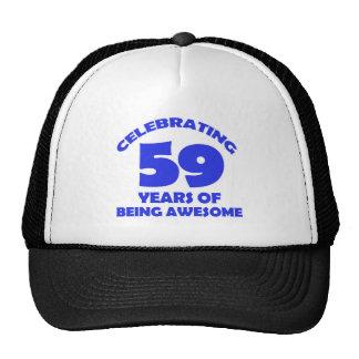 59 years old birthday designs cap