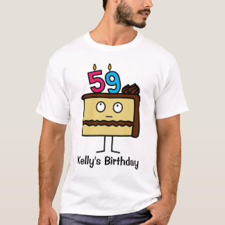 59th Birthday Cake with Candles T-Shirt
