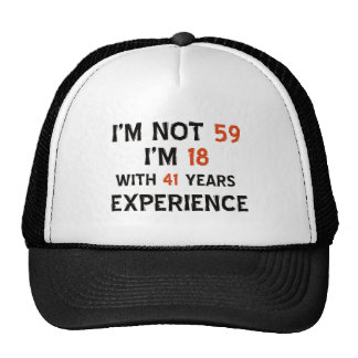 59th birthday designs trucker hats