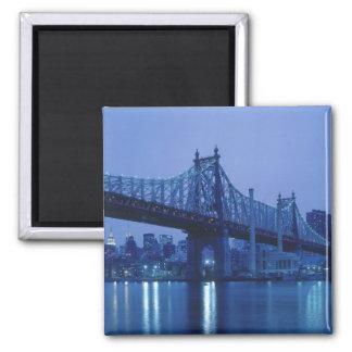 59th Street Bridge, New York, USA Square Magnet