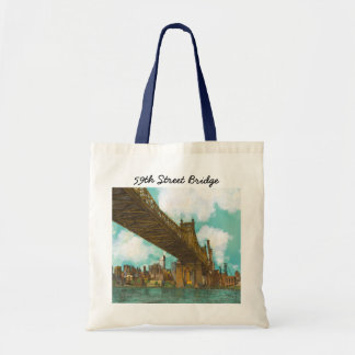 59th Street Bridge with skyline of Manhattan Bags