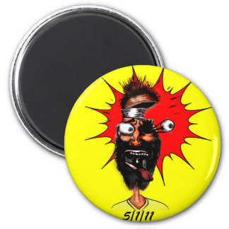 5/1/11 Cartoon 6 Cm Round Magnet