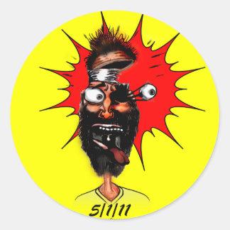 5/1/11 Cartoon Round Sticker