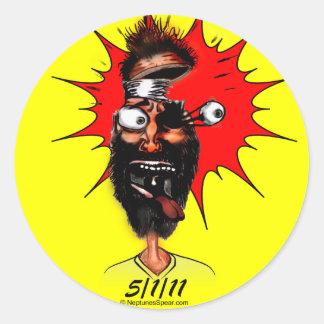 5-1-11 Cartoon Round Sticker