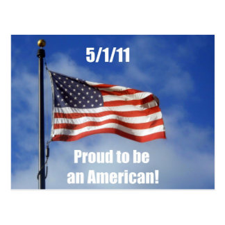 5/1/11 Proud to be an American! Postcard