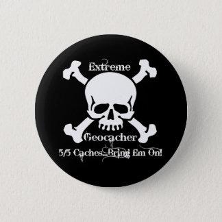 5/5 Caches...Bring Em On! 6 Cm Round Badge