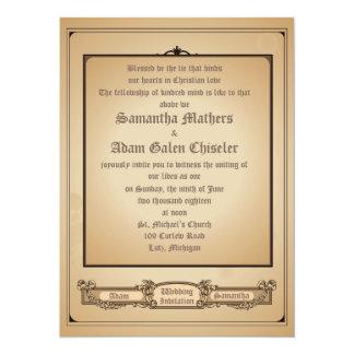 """5.5x7.5"""" Simply Minimal Vintage Wedding Invitation"""