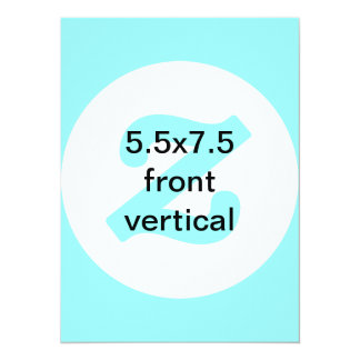 5.5x7.5 vertical and horizontal invite