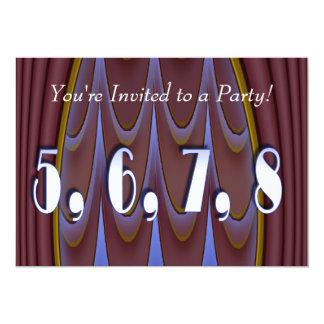5,6,7,8 13 CM X 18 CM INVITATION CARD
