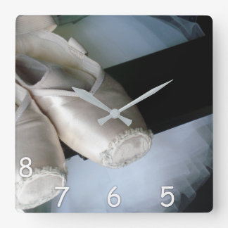 5, 6, 7, 8 - Pointe Shoes & Tutu Clock for Dancers