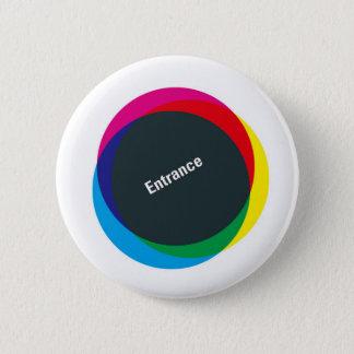 5.7cm Can batch [Grid] 6 Cm Round Badge