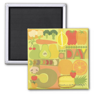 5 a day fruit and veg magnet