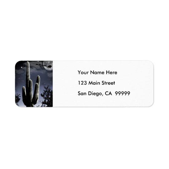 5 Armed Desert Saguaro in the Moonlight Return Address Label