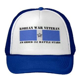 5 BATTLE STARS KOREAN WAR VETERAN CAP