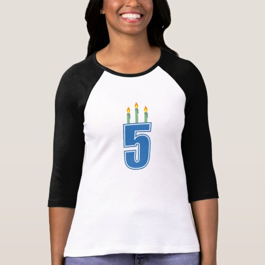 5 Birthday Candles (Blue / Green) T-Shirt