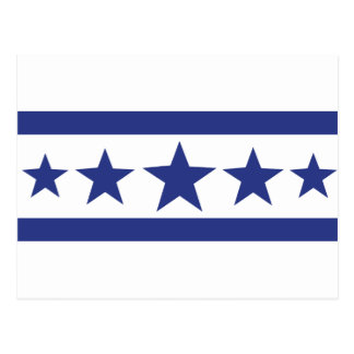 5 blue stars post cards