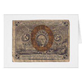 5-Cent Fractional Currency Greeting Card