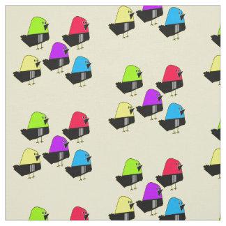 5 Colorful birds fun vector pattern fabric