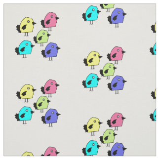 5 Colorful birds vector design in a pattern fabric