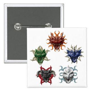 5 Dragons Pins