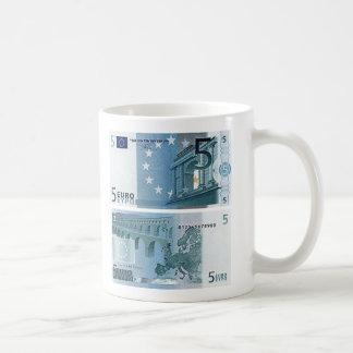 5 Euro Banknote Basic White Mug