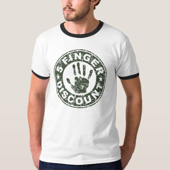 5 Finger Discount Logo - Green T-Shirt