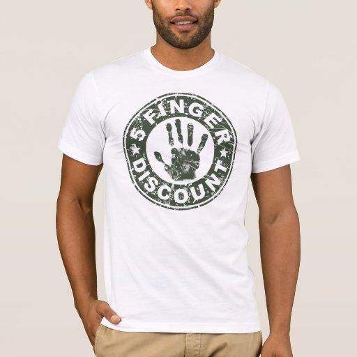 5 Finger Discount Logo - Green T-Shirt