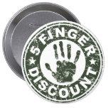 5 Finger Discount Logo - Green Tea Buttons