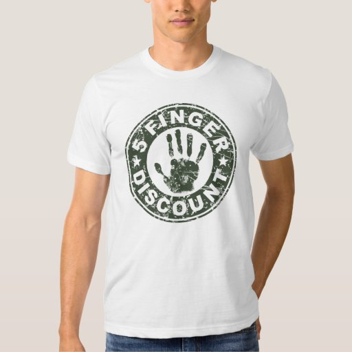 5 Finger Discount Logo - Green Tees