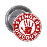 5 Finger Discount Logo - Strawberry