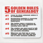 5 Golden Rules Of Genealogy Mouse Mats