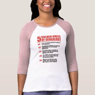 5 Golden Rules Of Genealogy T-Shirt
