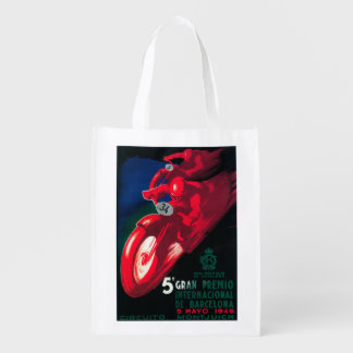5 Gran Premio Internat'l Motorcycle Poster Reusable Grocery Bag