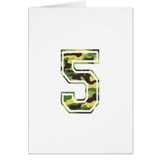#5 Green & Yellow Camo Card