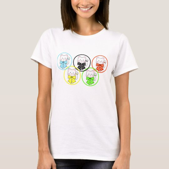 5 happiness cats T-Shirt