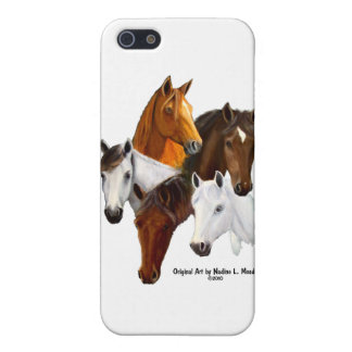 5 Horse Heads iPhone 5/5S Cases