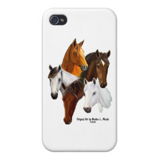 5 Horse Heads iPhone 4 Cover