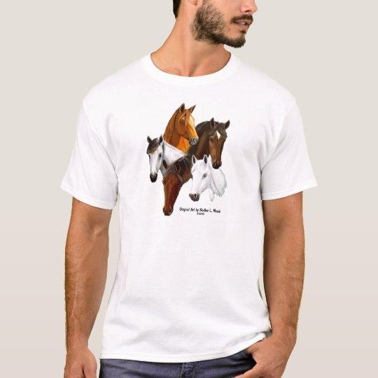 5 Horse Heads T-Shirt