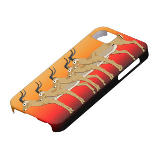 5 Impalas at sunset  Iphone case