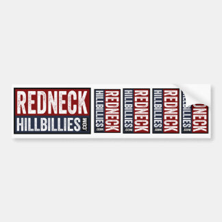 5 in 1  Redneck Hillbillies dot com bumper sticker