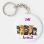5 Kittens Key Chains